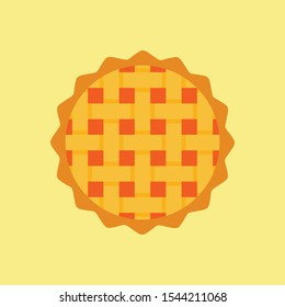 Thanksgiving element. vector illustration of homemade pies with pumpkin filling. great for bakery, pastry, confectionery menu design. good for homemade pies labels. comfort food concept.