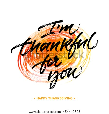 thanksgiving greeting card im thankful you stock vector royalty