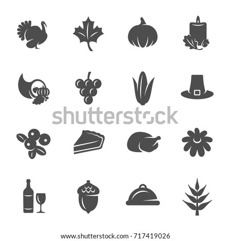 thanksgiving icons stock vector royalty free 717419026 shutterstock