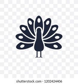 Thanksgiving peacock transparent icon. Thanksgiving peacock symbol design from United states of america collection.Vector illustration on transparent background.