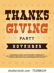 Thanksgiving poster style collection design