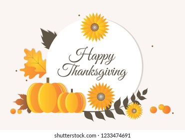 Thanksgiving pumpkin and banner Illustration. Thanksgiving Day is a national holiday celebrated on various dates in Canada, the United States, some of the Caribbean islands, and Liberia.