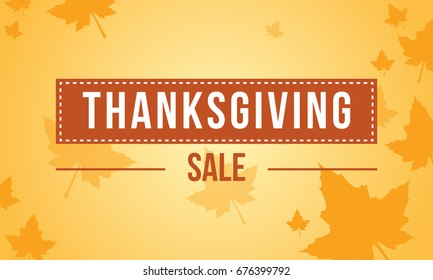 Thanksgiving sale on yellow background