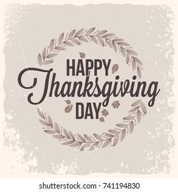 Thanksgiving vintage card design background
