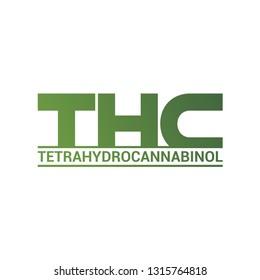THC logo. Tetrahydrocannabinol