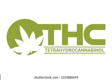 THC-Tetrahydrocannabinol logo vector
