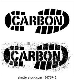 """carbon footprint"" -the measure of  greenhouse gases produced by an activity."