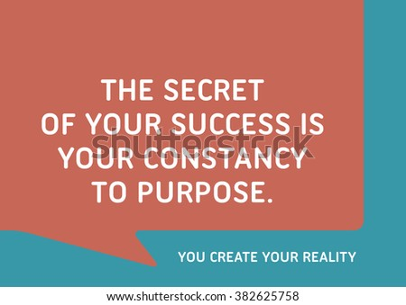 The Secret Your Success Your Constancy Stock Vector Royalty Free