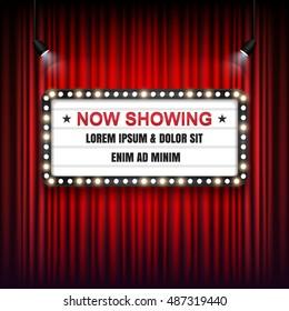Theater cinema Sign. Vector illustration