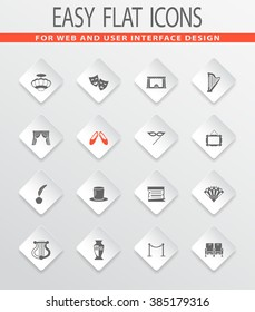 Theater easy flat web icons for user interface design