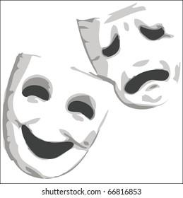 Theater emotion masks