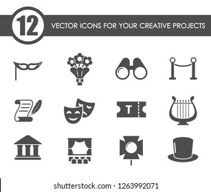 Theater icon set. Theater web icons for your creative project