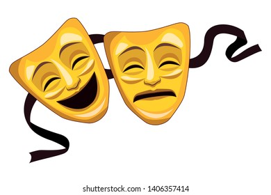 theater mask icon vector illustration