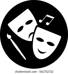 theater mask playhouse icon