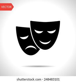 theater masks icon