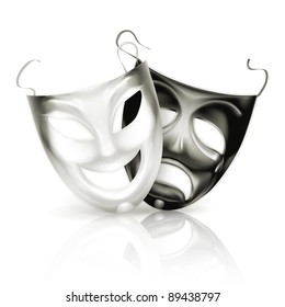 Theater masks, vector