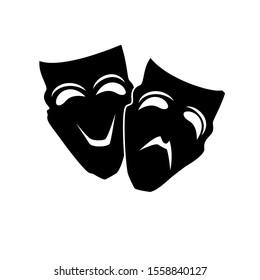 Theater masks. Vector art. Eps 10 vector illustration.