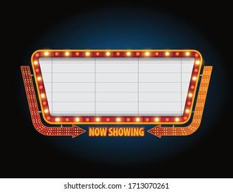 Theater sign billboard frame design