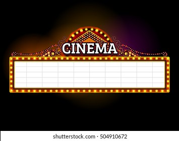 theater sign.cinema,las vegas sign.light frame,border,neon