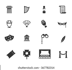 Theatre simple icons for web