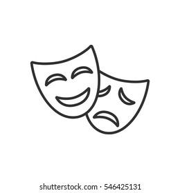theatrical masks. emotions mask