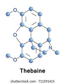Thebaine, also known as codeine methyl enol ether, is an opiate alkaloid