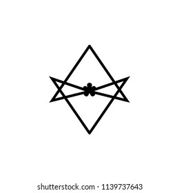 Thelema Unicursal hexagram sign icon. Element of religion sign icon for mobile concept and web apps. Detailed Thelema Unicursal hexagram icon can be used for web and mobile on white background