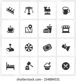 Theme park vector icons. File format is EPS8.