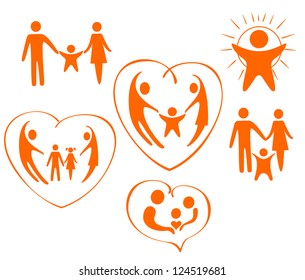 The themes of icons are love, family, child, care