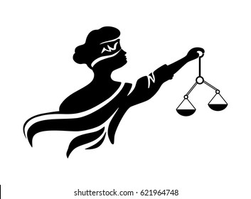Themis with weights. Goddess of Justice.