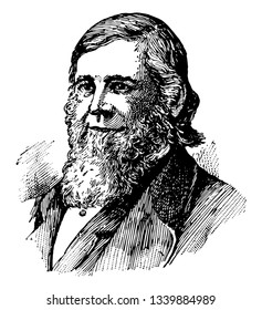 Theodore William Dwight 1822 to 1892 he was an American jurist and educator vintage line drawing or engraving illustration