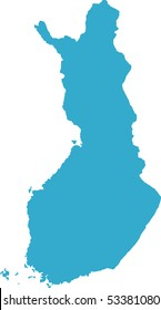 There is a map of Finland country