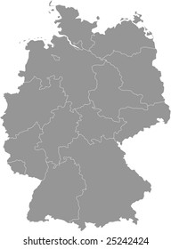 There is a map of Germany country