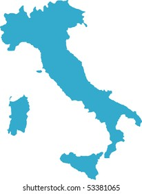 There is a map of Italy country