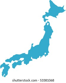 There is a map of Japan country