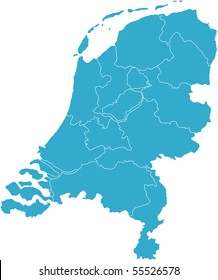 There is a map of Netherlands country
