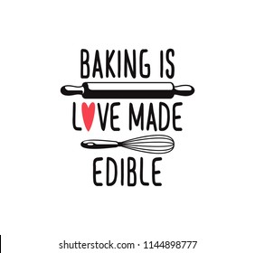 if there is a whisk there is a way fun cute baking quote printable vector design template