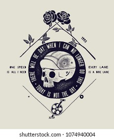There will be a day when I can no longer do this - today is not the day - dead cyclist print.