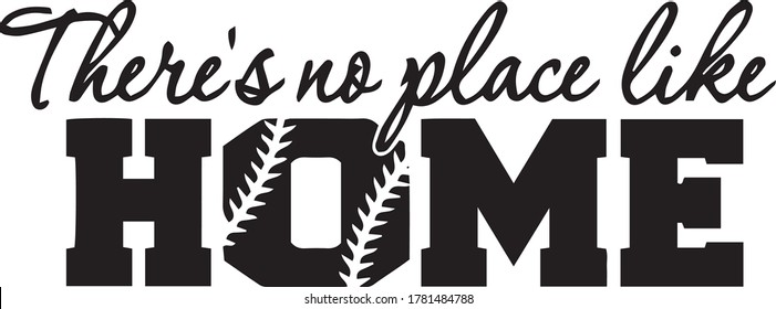 there's no place like home inspirational quotes and motivational typography art lettering composition vector