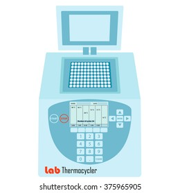 Thermal cycler -  laboratory apparatus for polymerase chain reaction - lab equipment for molecular biology research
