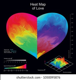 Thermal imaging interface abstract design on black background. Vector illustration