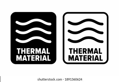 """""""Thermal material"""" heat retaining property information sign"""