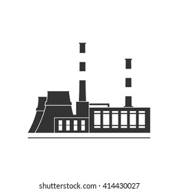 Thermal power station. Isolated on background. Vector illustration