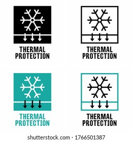 """""""Thermal protection"""" over temperature detection and item property information sign"""
