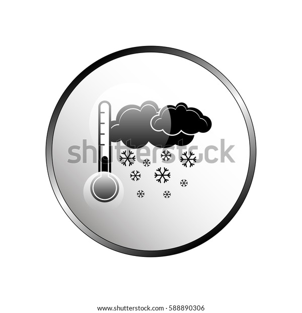 Thermometer by seasons. Winter. Illustration.