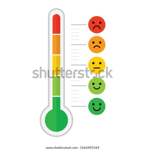 Vector De Stock Libre De Regalias Sobre Icono De La Diferencia De Escala1666405564 Combo de termómetro y pulso oximetro marca contec original. https www shutterstock com es image vector thermometer emotional scale difference icon face 1666405564