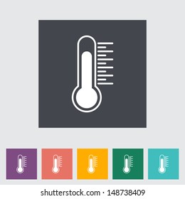 Thermometer flat icon. Vector illustration.