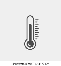 Thermometer flat vector icon