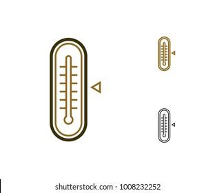 Thermometer icon. Device for temperature measurement. Vector illustration.