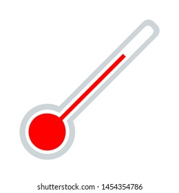 Thermometer icon. flat illustration of Thermometer. vector icon. Thermometer sign symbol